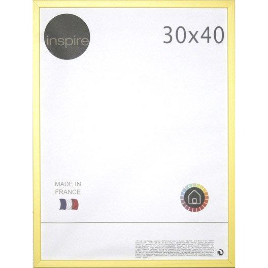 cadre kawa 30 x 40 cm jaune anis n 4 leroy merlin. Black Bedroom Furniture Sets. Home Design Ideas