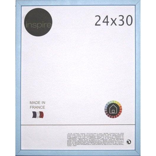 cadre kawa 24 x 30 cm bleu baltique n 3 leroy merlin. Black Bedroom Furniture Sets. Home Design Ideas