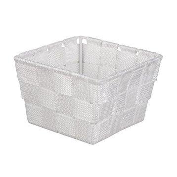 panier en plastique basket blanc blanc n 0. Black Bedroom Furniture Sets. Home Design Ideas