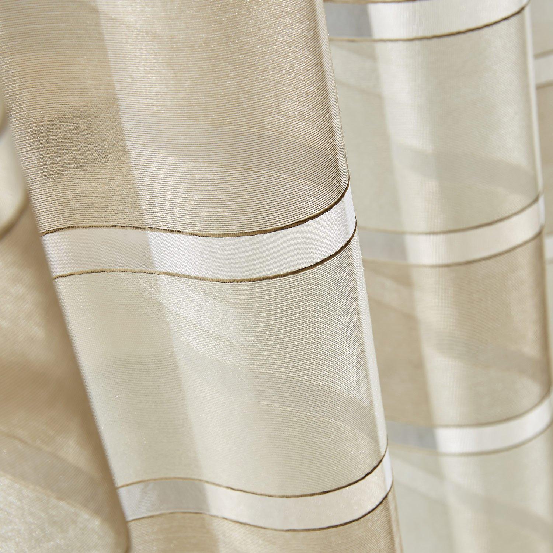 voilage tamisant grande largeur nacre ivoire x cm leroy merlin. Black Bedroom Furniture Sets. Home Design Ideas