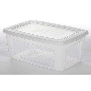 Boîte Modular clear box plastique , l.26.5 x P.39.5 x H.15.6 cm