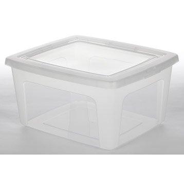 Boîte Modular clear box plastique , l.34 x P.39.5 x H.19.9 cm