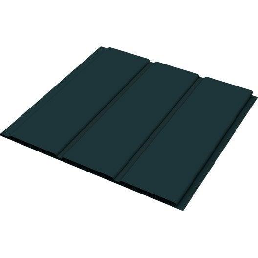 sous face de toiture anthracite pvc l 3 m x mm. Black Bedroom Furniture Sets. Home Design Ideas