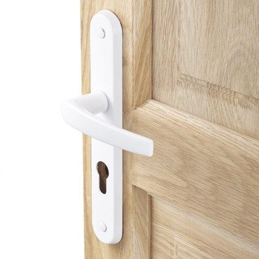 poignee de porte aluminium 2 poign es de porte trou de cylindre aluminium mat 195