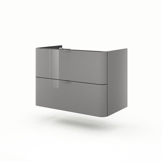 meuble sous vasque x x cm gris neo shine leroy merlin. Black Bedroom Furniture Sets. Home Design Ideas