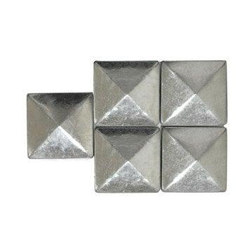 Chapeaux acier galvanisé pyramide gris , H.5 x l.9 x P.9 cm