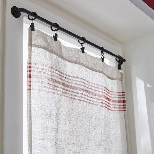 paire de vitrages tamisant petite hauteur matelas rouge cru x cm leroy merlin. Black Bedroom Furniture Sets. Home Design Ideas