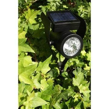 Spot à piquer solaire 50 Lm noir WATT & HOME