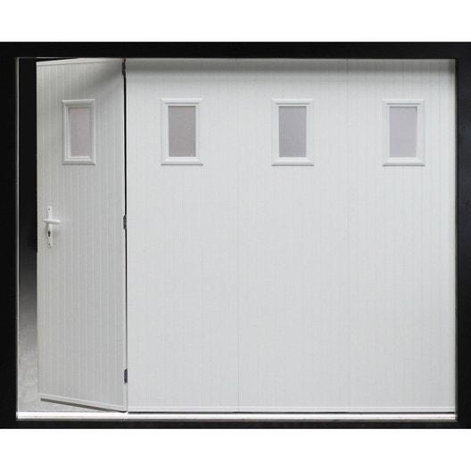 porte de garage coulissante manuelle artens x cm avec hublot leroy merlin. Black Bedroom Furniture Sets. Home Design Ideas