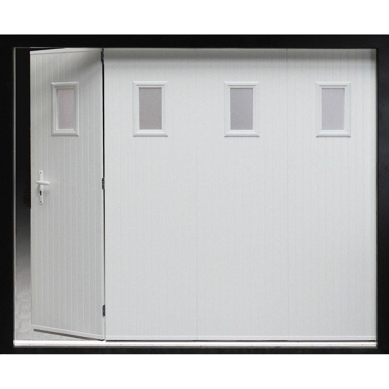 Porte De Garage Coulissante Manuelle Artens H 200 X L 240 Cm Avec Hublot