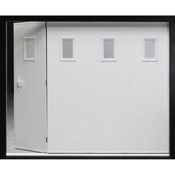 Porte de garage coulissante ouverture lat rale porte de for Porte de garage 4 vantaux leroy merlin