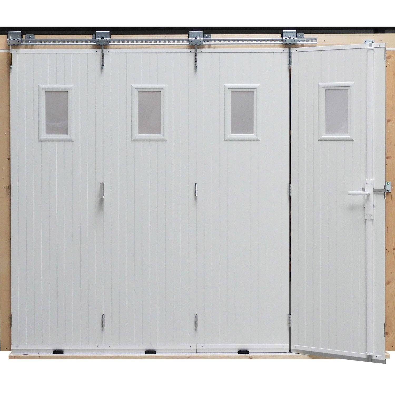 Porte de garage coulissante manuelle artens x for Porte de garage dimensions tableau