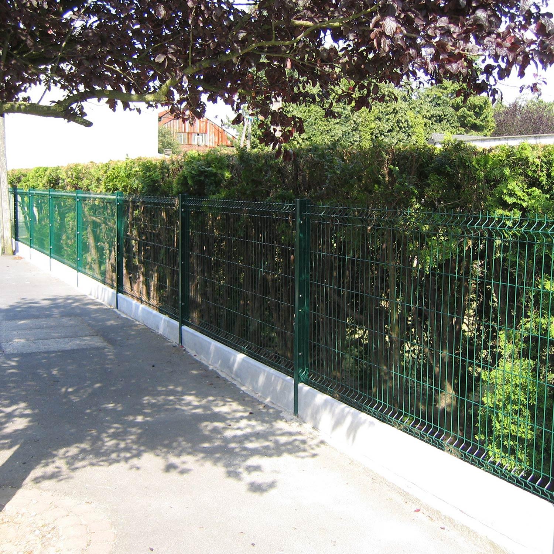 Cloture En Plaque De Beton Prix intérieur plaque en béton pour clôture droite, l.253 x h.25 cm x ep.3.8 mm