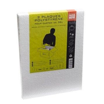 Lot de 2 plaques de protection blanc, L.29.5 m x l.39.5 cm, E.2 cm
