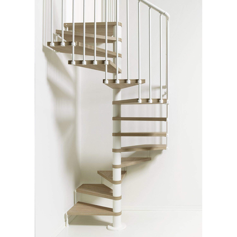 Escalier colima on carr cube structure acier marche bois leroy merlin - Escalier acier bois ...