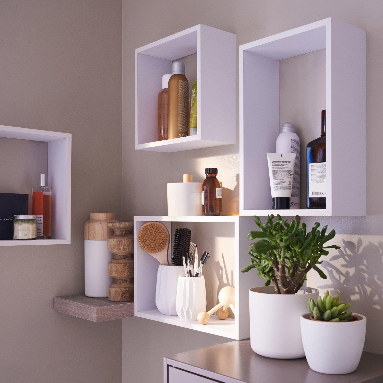 etag re 3 cubes blanc x cm mm leroy merlin. Black Bedroom Furniture Sets. Home Design Ideas