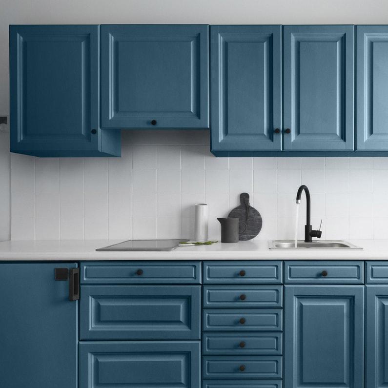 Peinture Cuisine Meuble Et Credence Decolab V33 Bleu Petrole Satine 0 75 L Leroy Merlin