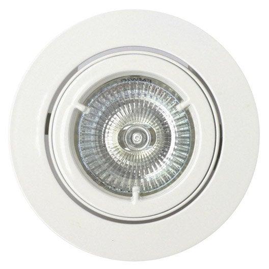 Kit 1 spot encastrer salle de bains orientable halog ne for Comment encastrer des spots