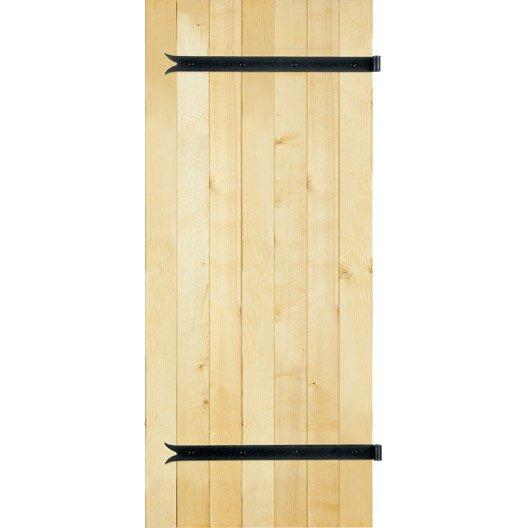 Volet battant sapin 1 vantail, vendu en kit, tableau h.155 x l.53 cm | Leroy Merlin