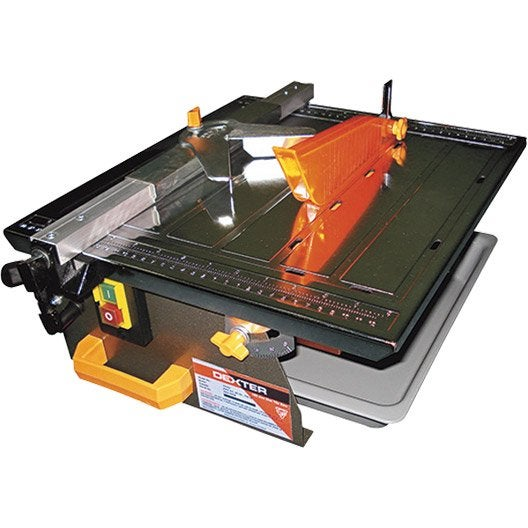 Coupe carreaux electrique dexter 750 w leroy merlin for Coupe plinthe carrelage a 45