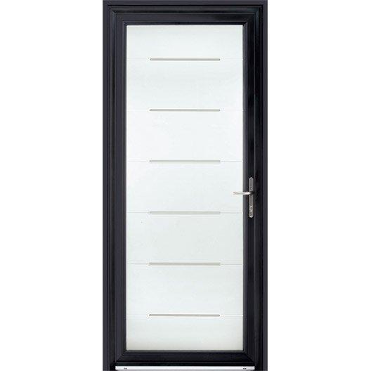 Porte d 39 entr e sur mesure en aluminium stellium excellence for Porte de service aluminium sur mesure