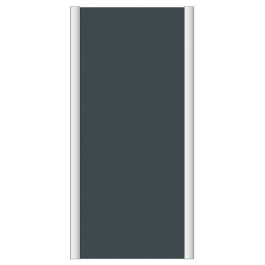 Porte de placard coulissante gris graphite spaceo x h for Porte coulissante 120 cm