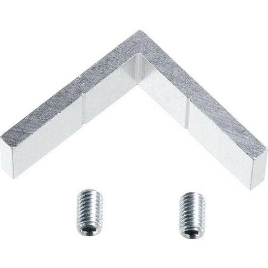 lot de 4 querres aluminium poli mm leroy merlin. Black Bedroom Furniture Sets. Home Design Ideas