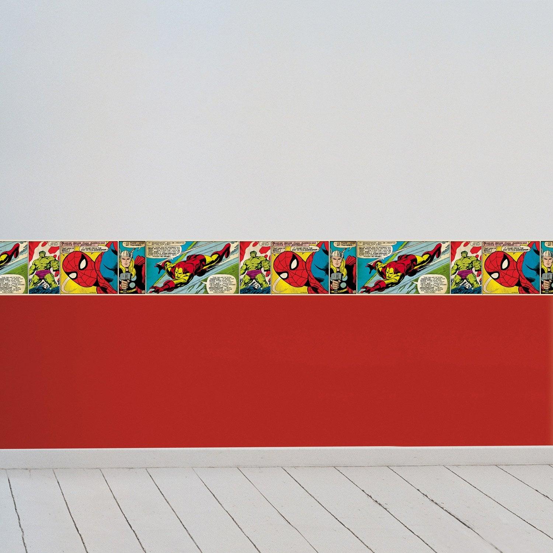 Frise vinyle adhésive Marvel L.5 m x l.15 cm   Leroy Merlin