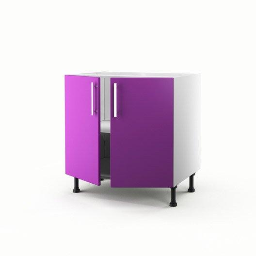 Meuble De Cuisine Bas Violet 2 Portes D Lice X X