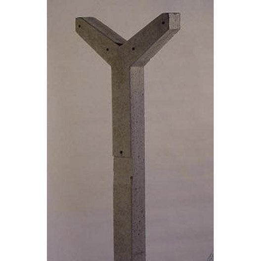 Poteau en b ton x cm x mm leroy merlin - Cloture beton point p ...