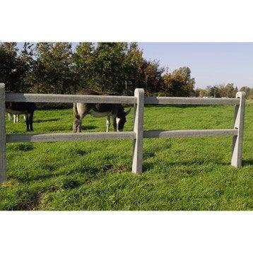 Poteau cintrée pour clôture en béton ajourée, L.8 x H.11 cm x Ep.8 mm