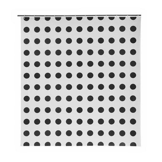 Rideau de douche en plastique x cm gris zingu - Nettoyer rideau de douche plastique ...