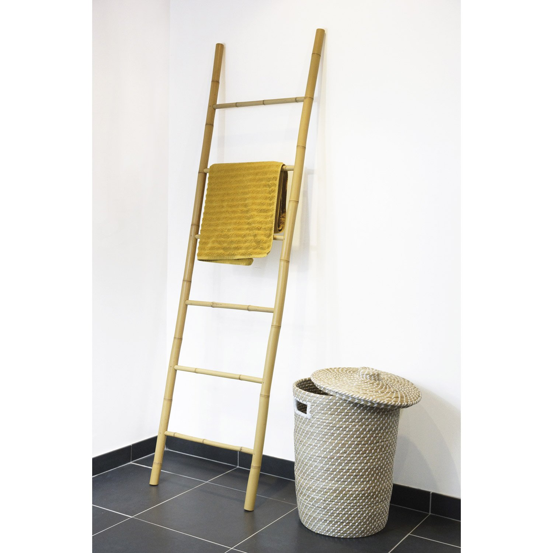 Porteserviettes à Poser Bambou Leroy Merlin - Bambou dans salle de bain
