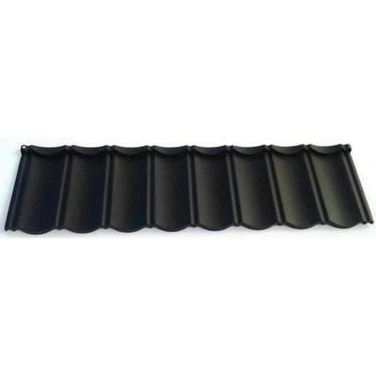 plaque tuilacier aspect tuile noir mat x m first plast leroy merlin. Black Bedroom Furniture Sets. Home Design Ideas