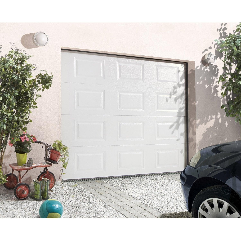 Porte De Garage Sectionnelle PRIMO H X L Cm Leroy Merlin - Porte de garage sectionnelle avec porte fenetre pvc leroy merlin