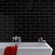 Faïence mur noir, Basic briquette l.10 x L.30 cm