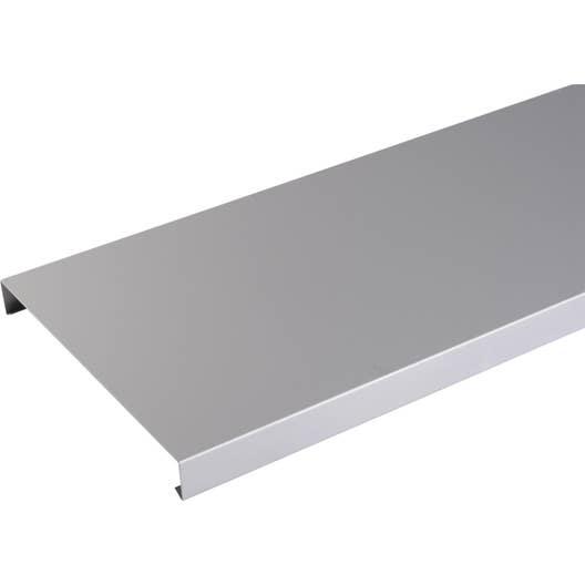 couvertine aluminium 270 x 2000 lmc virano gris l 2 m leroy merlin. Black Bedroom Furniture Sets. Home Design Ideas