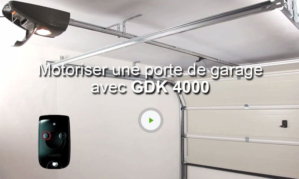 Motorisation de garage cha ne somfy gdk 4000 leroy merlin for Moteur porte de garage sectionnelle leroy merlin