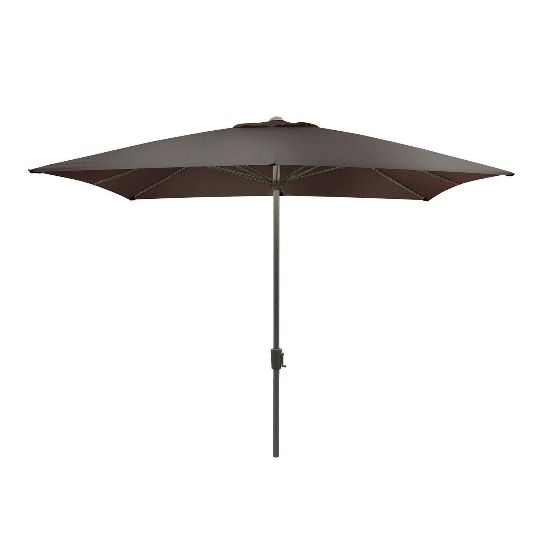 Parasol droit Rhea taupe carré, L.300 x l.300 cm   Leroy Merlin
