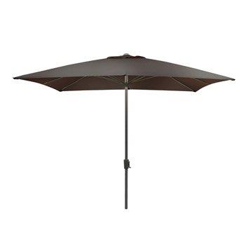 Parasol droit Rhea ivoire carré, L.300 x l.300 cm