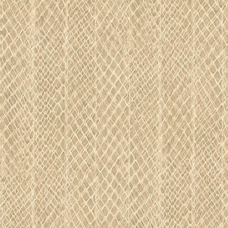 Papier peint vinyle SAFFIANO rayure serpent beige