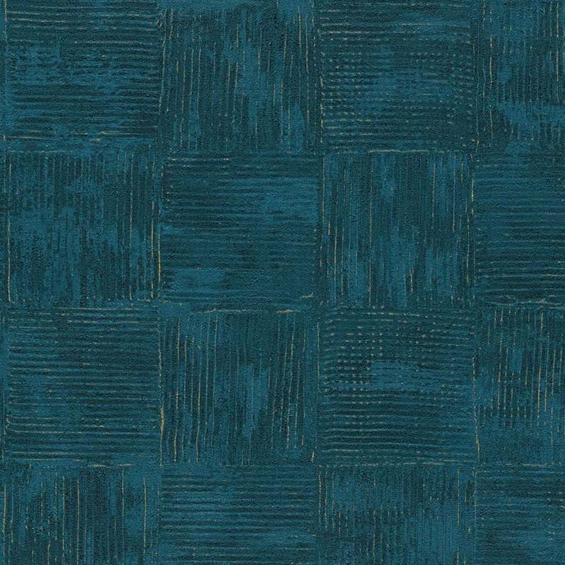 Papier Peint Vinyle Saffiano Carré Spatule Bleu Leroy Merlin
