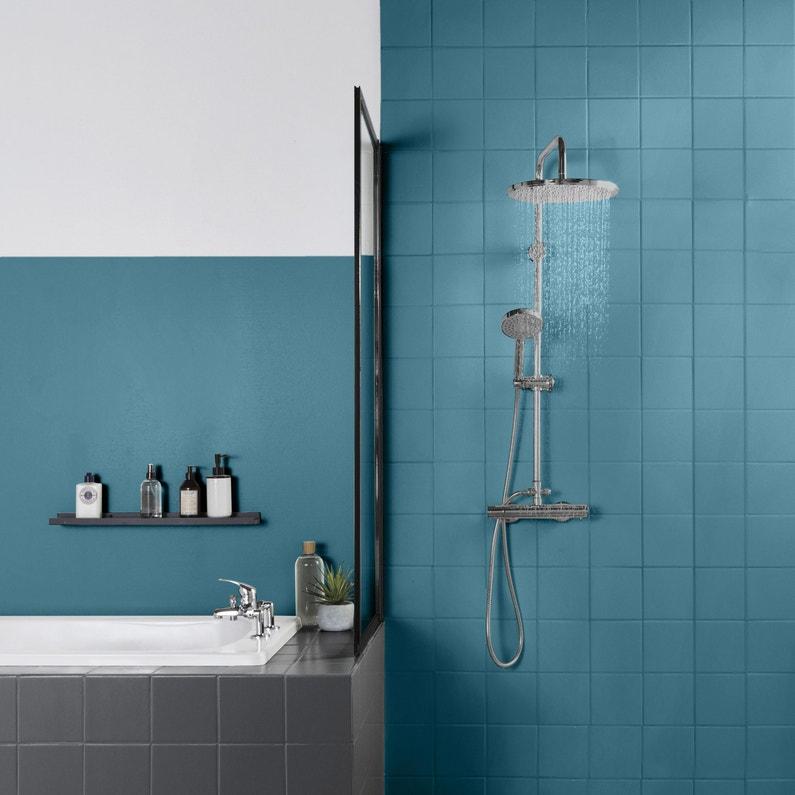 Peinture Salle De Bains Carrelage Et Meuble Decolab V33 Bleu Lagon Satine 0 75 L Leroy Merlin