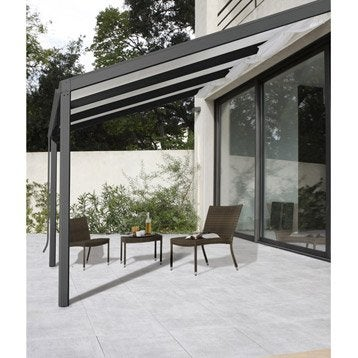 Terrasse couverte leroy merlin for Pergola bioclimatique prix au m