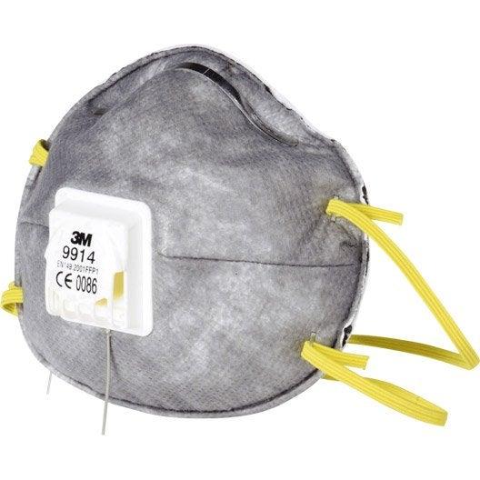 lot de 2 masques antiodeur 3m protect leroy merlin. Black Bedroom Furniture Sets. Home Design Ideas