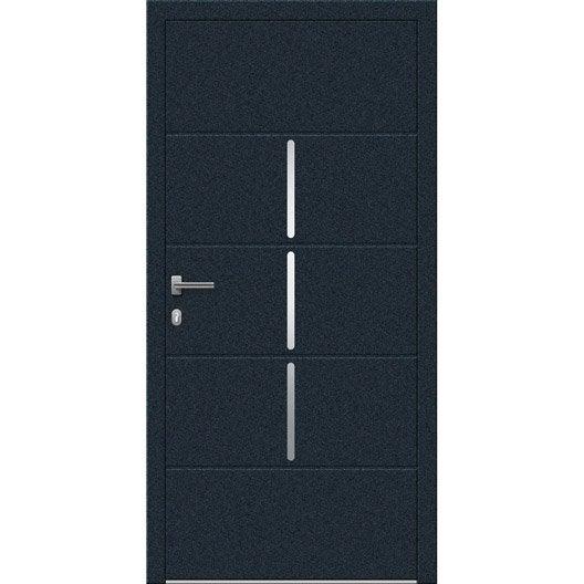 Porte d 39 entr e sur mesure en aluminium miami excellence - Portes d entree leroy merlin ...