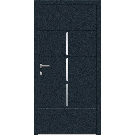 porte d 39 entr e sur mesure en aluminium miami excellence leroy merlin. Black Bedroom Furniture Sets. Home Design Ideas