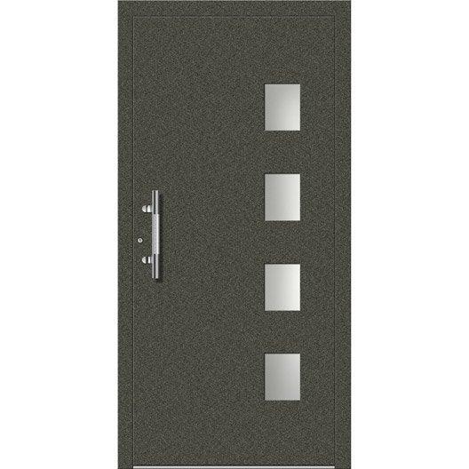 Porte d 39 entr e sur mesure en aluminium faro excellence - Porte entree alu leroy merlin ...