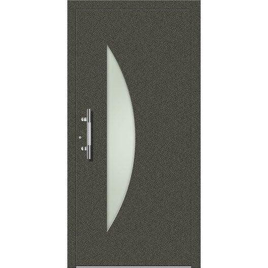 porte d 39 entr e sur mesure en aluminium evora excellence leroy merlin. Black Bedroom Furniture Sets. Home Design Ideas