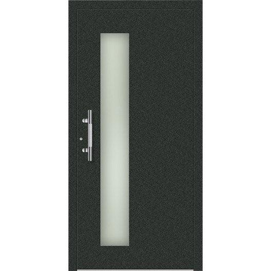 Porte d 39 entr e sur mesure en aluminium denver excellence - Verre sur mesure leroy merlin ...